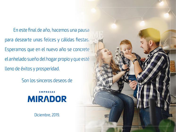Felices fiestas les desea Empresas MIRADOR